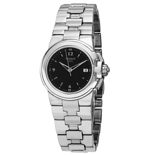 Tissot Women's T080.210.11.057.00 'T Sport' Black Dial Stainless Steel Quartz Watch