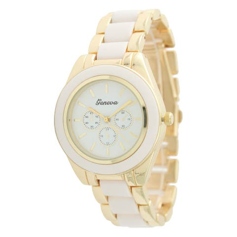 Olivia Pratt Women's Two-tone Colored Watch