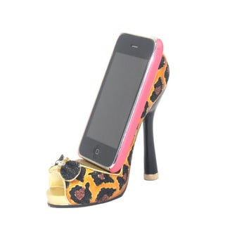 Leopard Print Shoe Cell Phone Holder