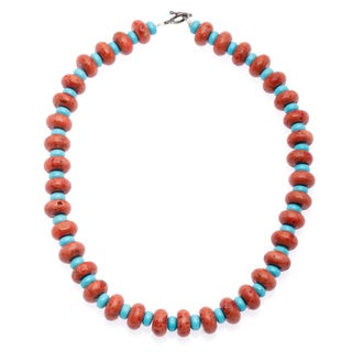 Turquoise Necklace with Natural Finished Stone (India)