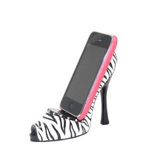 Zebra Print Shoe-shaped Cell Phone Holder