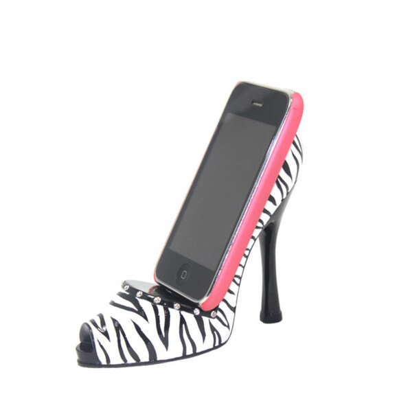 Zebra Print Shoe-shaped Cell Phone Holder