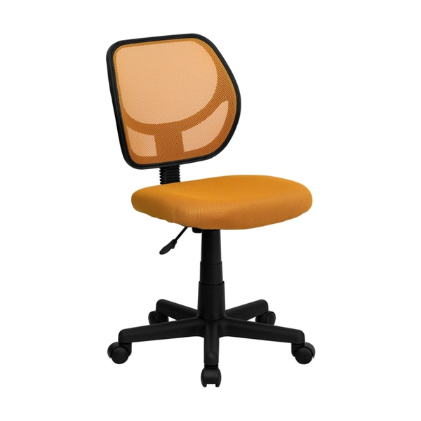 Shop Offex Mid-back Orange Mesh Task Chair and Computer ...