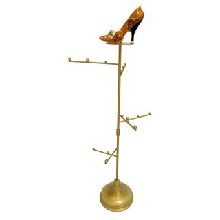 Gold High Heel Shoe Jewelry Stand