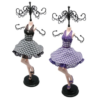 Plaid Prom Dress Collection Jewelry Stand
