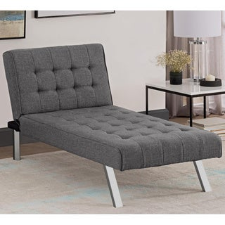 avenue greene ella grey linen chaise lounger chaise lounges futons for less   overstock