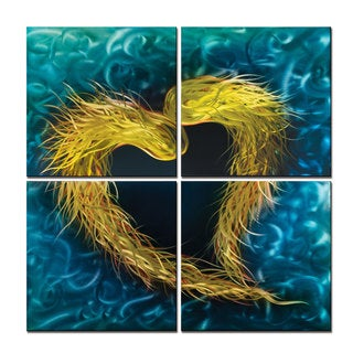 Metal Artscape 'Dragon's Heart' Extra Large Metal Wall Art