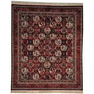 Hand-knotted Dense Weave Area Rug Semi Antique Wool Area Rug (9'2 x 10'10)