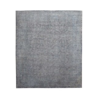 Hand-knotted Silver Wash Peshawar Overdyed Wool Area Rug (9'4 x 11'4)