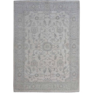 Hand-knotted Stone Wash Ziegler Mahal Oriental Rug Wool Area Rug (4'1 x 6'1)
