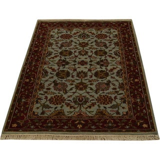 Hand-knotted Rajasthan Floral Design Oriental Rug Wool Area Rug (3' x 5')