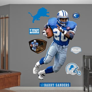 Fathead Barry Sanders Wall Decals
