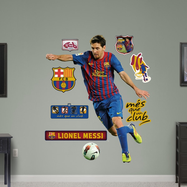 c8a0d709b5f Shop Fathead Lionel Messi Wall Decals - Free Shipping Today ...