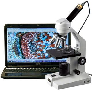 AmScope 40x-400x Compound Microscope with USB Digital Imager Camera