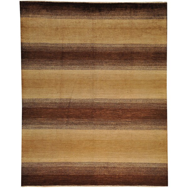 Earth Tone Colors Modern Gabbeh Oriental Wool Area Rug 8 39 1 X 10 39 2 Free Shipping Today