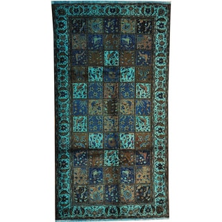 Hand-knotted Overdyed Semi Antique Persian Bakhtiari Wool Area Rug (5'4 x 10')