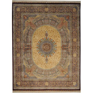 Signed Masterpiece Gumbad Design 600 Kpsi Silk Area Rug (8'2 x 10'5)