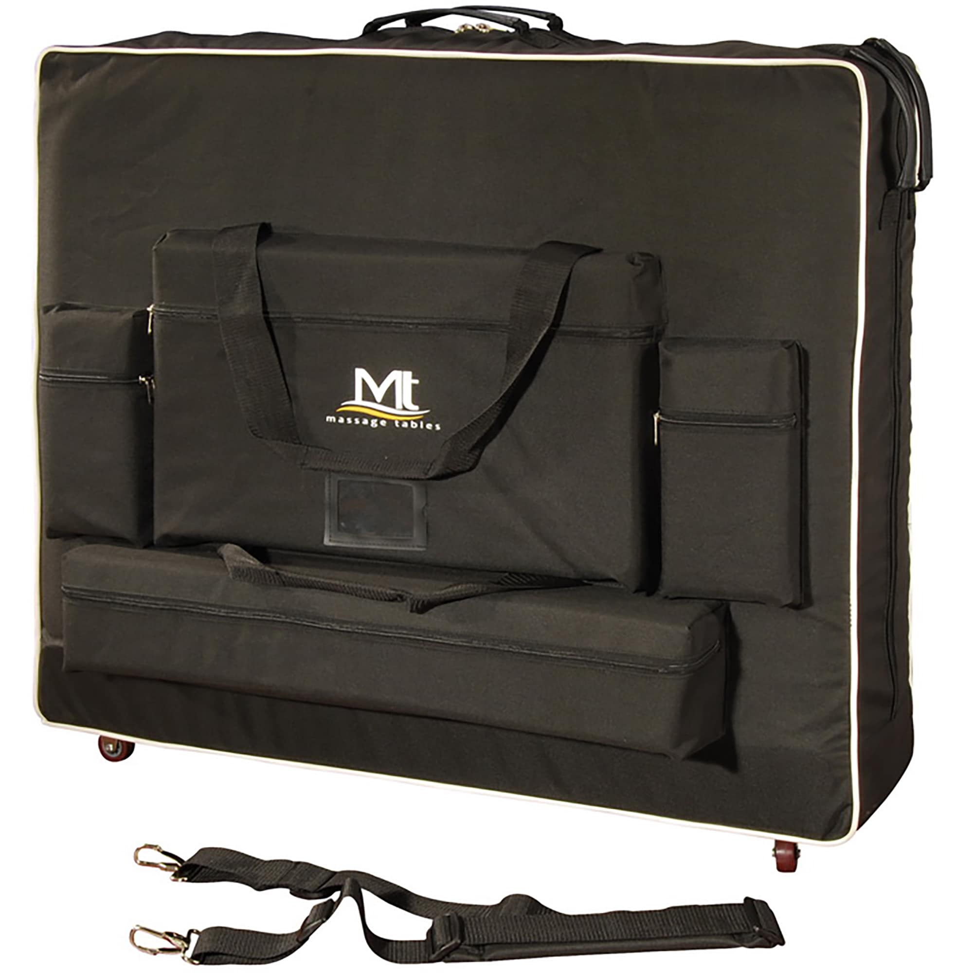 """MT Massage 30-inch Deluxe Case with Wheels (30"""" Black)"""