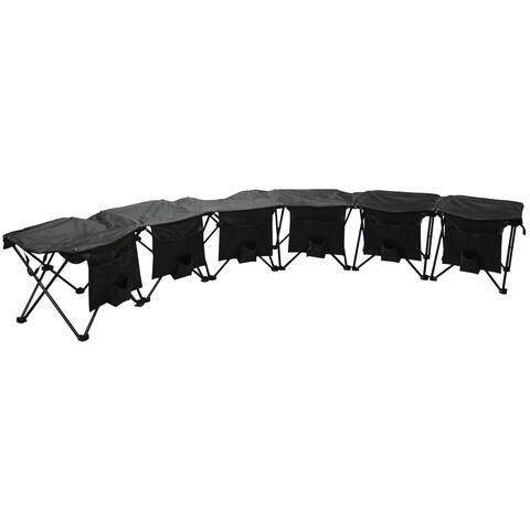 Creative Outdoor 6-Person Folding Bench, Black