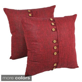 Blazing Needles 20-inch 9-button Throw Pillows (Set of 2)