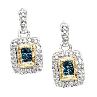 Divina 14k Two-tone Gold 1/2ct TDW Diamond Earrings (H-I, I2-I3)