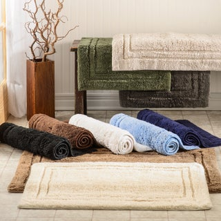 Superior Collection Luxurious Cotton Non-skid 2-piece Bath Stone (As Is Item)