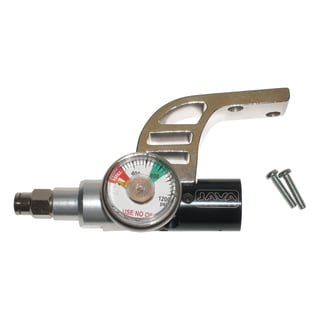 Spyder Paintball Gun CO2 Air Gas Regulator with Gauge Drop Forward Bottomline Set (Refurbished)