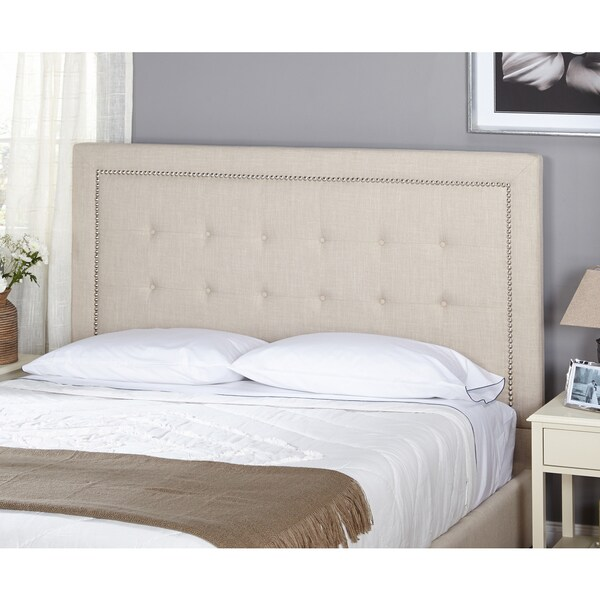 simple living cortina upholstered queen headboard free shipping today 16924275. Black Bedroom Furniture Sets. Home Design Ideas