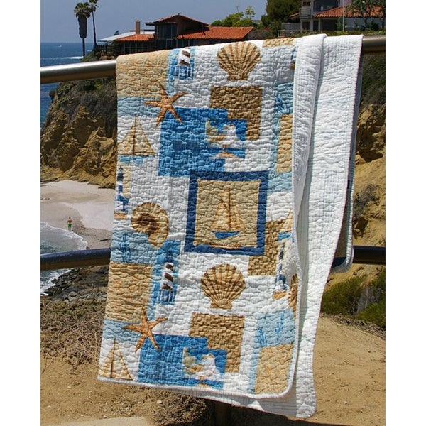 Greenland Home Fashions Beachcomber Quilted Cotton Throw