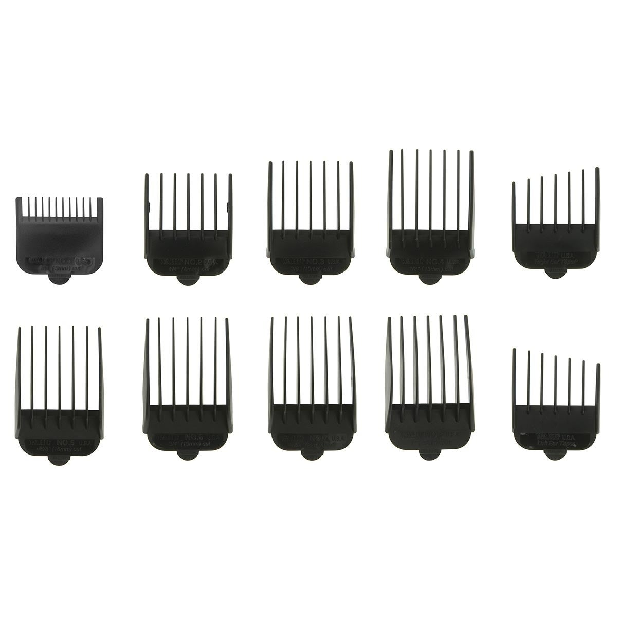Wahl Clipper Comb Kit, Silver stainless steel