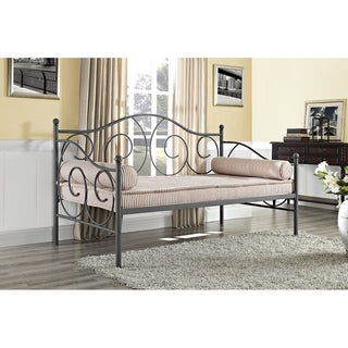 DHP Victoria Twin-size Pewter Metal Daybed