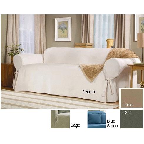 Shop Sure Fit Classic Duck Washable Bluestone Sofa