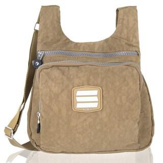 Suvelle City Crinkle Nylon Water-resistant Crossbody Bag