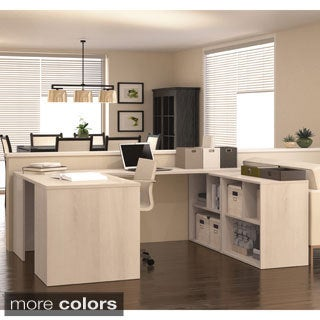 i3 by Bestar U-shaped Office Desk with Built-in Storage Unit