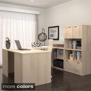 i3 by Bestar U-Shaped Desk with 2 Storage Units