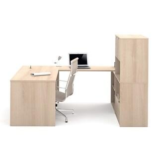 i3 by Bestar U-Shaped Desk with 2 Storage Units