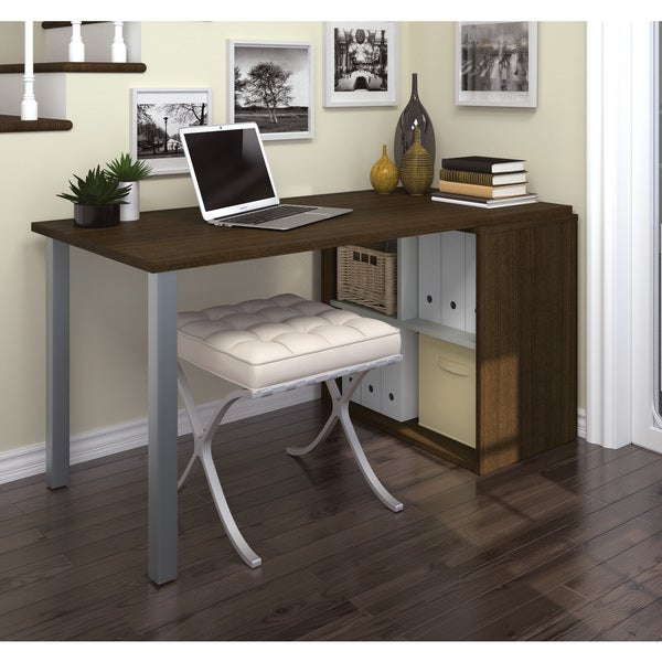 i3 by Bestar Workstation Desk with Open Storage Unit - Free Shipping