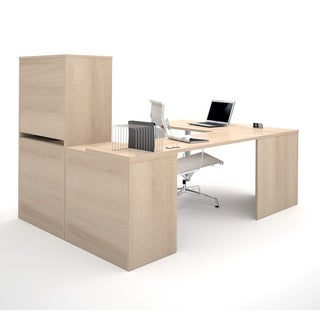 i3 by Bestar U-shaped Desk with Hutch