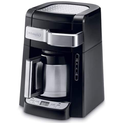 DeLonghi DCF2210TTC 10-Cup Drip Coffee Maker with Front Access