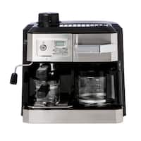 DeLonghi BCO330T Combination Drip Coffee, Cappucino and Espresso Machine with Programmable Timer - Stainless Steel
