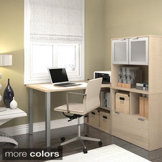 i3 by Bestar L-shaped Desk with 2 Storage Units