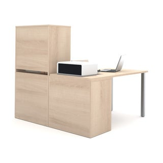 i3 by Bestar L-shaped Desk with 2 Storage Units