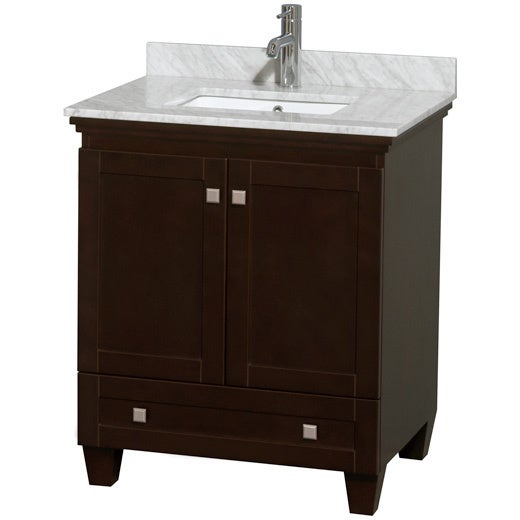 Wyndham Collection Acclaim Espresso 30 Inch Single Bathroom Vanity Free Shipping Today 16924490