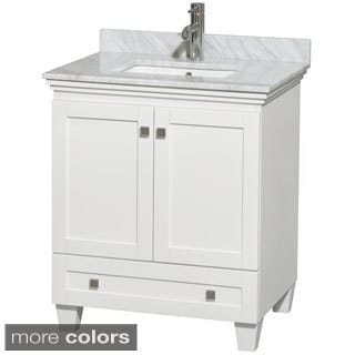 Wyndham Collection Acclaim White 30 Inch Single Bathroom Vanity