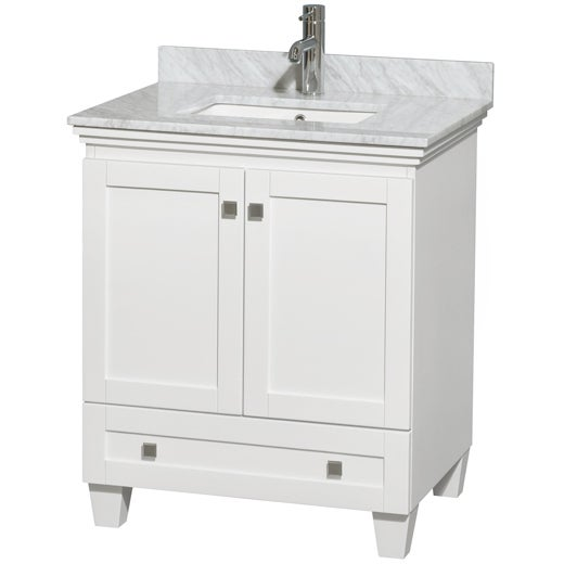 Wyndham Collection Acclaim White 30 Inch Single Bathroom Vanity Free Shipping Today