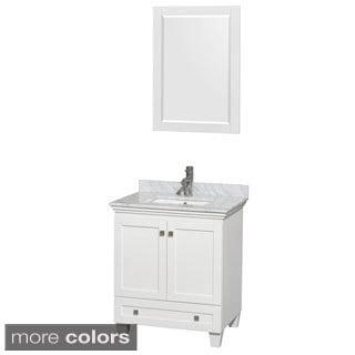 Wyndham Collection Acclaim White 30-inch Single Bathroom Vanity