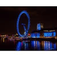 Stewart Parr 'London Eye Ferris/Observation Wheel at Night' Unframed Photo Print