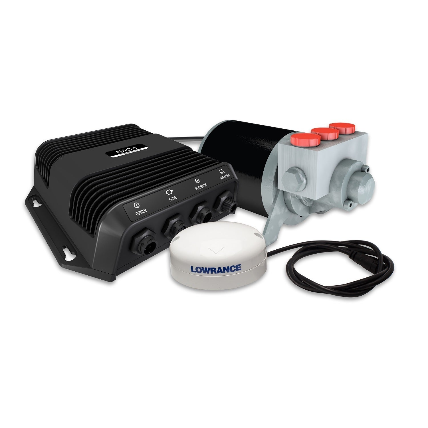 Navico Outboard Pilot Hydraulic Pack (Hydraulic Pack), Bl...