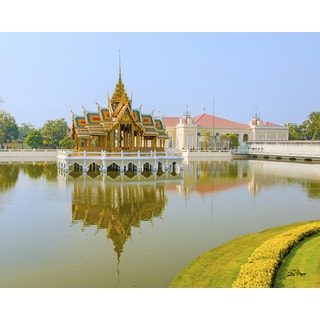 Stewart Parr 'Summer Palace Temple on Lake in Thailand' Unframed Photo Print