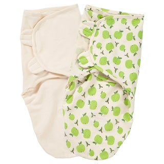 Summer Infant SwaddleMe Organic Cotton Knit (Apple and Ivory)